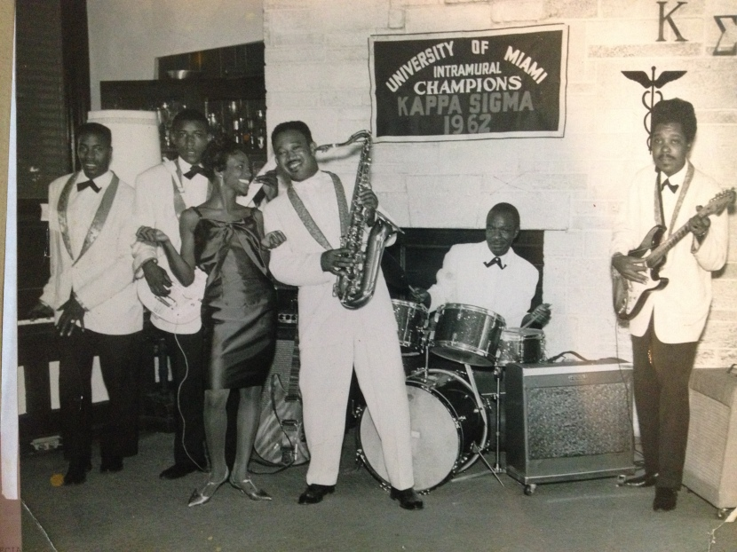 Frank Williams & the Rocketeers. Gilmore is second from left.